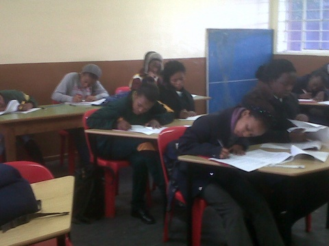 Nyanganites write mock exams to get ready for June