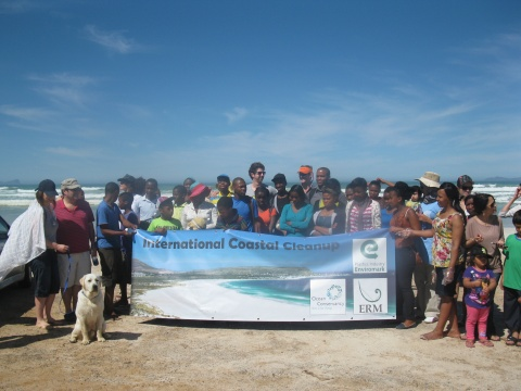 Nyanga participates in international coastal cleanup day