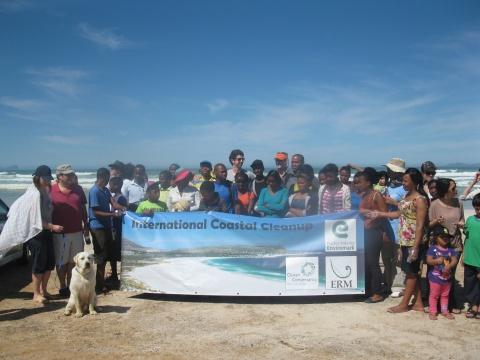Nyanga participates in international coastal cleanup day