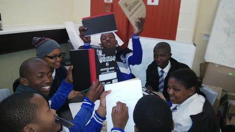 More than 10 Boxes full of books and stationery were delivered in Makhaza