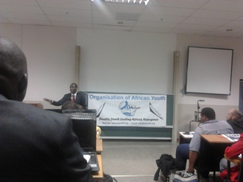 Gauteng Volunteer attends the Organisation of African Youth (OAYouth) Symposium